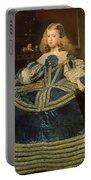 Infanta Margarita Teresa In A Blue Dress Portable Battery Charger