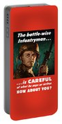 Infantryman Is Careful Of What He Says Portable Battery Charger