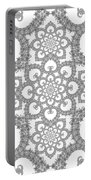 Infinite Lily In Black And White Portable Battery Charger