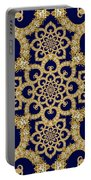Infinite Lily In Navy Portable Battery Charger