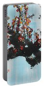 Ink Painting Plum Blossom Blue Portable Battery Charger