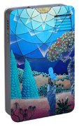 Inner Space-art On A Wall.  Portable Battery Charger