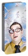 Insane Business Man With Busy Travel Schedule Portable Battery Charger
