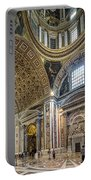 Inside St Peter's Basilica Rome Portable Battery Charger