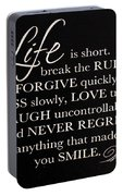 Inspirational Motivating Quote Portable Battery Charger