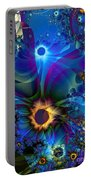 Inter-dimensional Daisies Portable Battery Charger