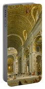 Interior Of St. Peter's - Rome Portable Battery Charger