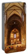 Interior Of Strasbourg Cathedral Portable Battery Charger