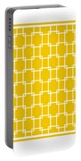 Interlocking Rectangular With Border In Mustard Portable Battery Charger