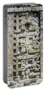 Intricate Details Of Mayan Ruins Portable Battery Charger