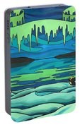 Inuit Love Arctic Landscape Painting Portable Battery Charger