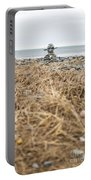 Inukshuk At Lawrencetown Beach, Nova Scotia Portable Battery Charger