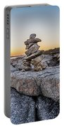 Inukshuk In Terence Bay, Nova Scotia Portable Battery Charger
