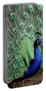 Iridescent Blue-green Peacock Portable Battery Charger