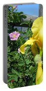 Iris And Wild Roses Portable Battery Charger