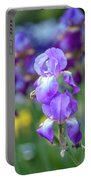Ballet Girl. The Beauty Of Irises Portable Battery Charger