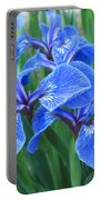 Iris Floral  Portable Battery Charger