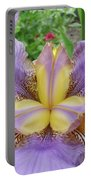 Iris Flower Lavender Purple Yellow Irises Garden 19 Art Prints Baslee Troutman Portable Battery Charger