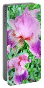 Iris Flower Photograph I Portable Battery Charger