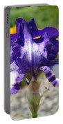 Iris Flower Purple White Irises Nature Landscape Giclee Art Prints Baslee Troutman Portable Battery Charger