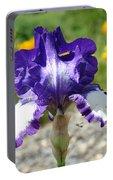 Iris Flower Purple White Irises Nature Landscape Giclee Art Prints Baslee Troutman Portable Battery Charger