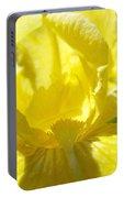 Iris Flower Yellow Macro Close Up Irises 30 Sunlit Iris Art Print Baslee Troutman Portable Battery Charger