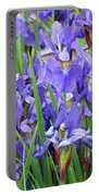 Iris Flowers Artwork Purple Irises 9 Botanical Garden Floral Art Baslee Troutman Portable Battery Charger