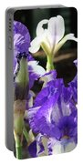 Iris Flowers Floral Art Prints Purple Irises Baslee Troutman Portable Battery Charger