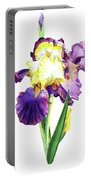 Iris Flowers Watercolor  Portable Battery Charger