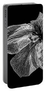 Iris In Black And White Portable Battery Charger