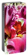 Iris In Close Up Portable Battery Charger