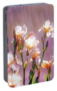 Iris In Rain Portable Battery Charger