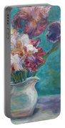 Iris Medley - Original Impressionist Painting Portable Battery Charger
