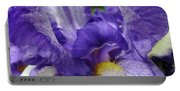 Irises Artwork Purple Iris Flowers Art Prints Canvas Baslee Troutman Portable Battery Charger