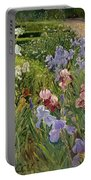 Irises At Bedfield Portable Battery Charger