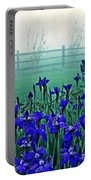 Irises At Dawn 3 Portable Battery Charger