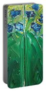 Irises Diptych Portable Battery Charger