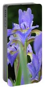 Irises Flowers Art Prints Blue Purple Iris Floral Baslee Troutman Portable Battery Charger