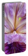 Irises Summer Purple Lavender Iris Flower Art Print Baslee Portable Battery Charger