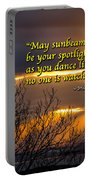 Irish Blessing - May Sunbeams Be Your Spotlight Portable Battery Charger