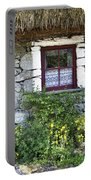 Irish Cottage Window County Clare Ireland Portable Battery Charger