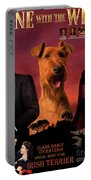 Irish Terrier Art Canvas Print - Gone To The Wind Movie Poster Portable Battery Charger