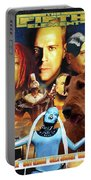 Irish Terrier Art Canvas Print - The Fifth Element Movie Poster Portable Battery Charger
