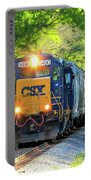 Iron Age Engineers Csx Locomotive Art Portable Battery Charger