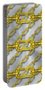 Iron Chains With Brushed Metal Texture Portable Battery Charger