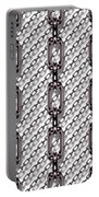 Iron Chains With White Background Seamless Texture Portable Battery Charger