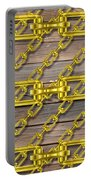 Iron Chains With Wood Texture Portable Battery Charger