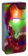Ironman Abstract Digital Paint 1 Portable Battery Charger