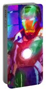 Ironman Abstract Digital Paint 2 Portable Battery Charger