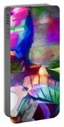 Ironman Abstract Digital Paint 3 Portable Battery Charger